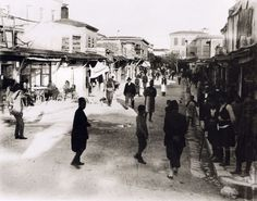 Kandiye one of the main street 1920 Heraklion Crete, Main Street, Street View, Crete Island, Simple Photo, Old Maps, The Old Days, Santorini, Time Travel