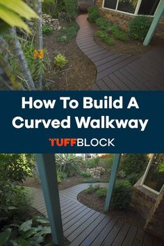 This curved deck was made possible by using Tuffblocks. TuffBlocks have an ultra low profile of only 2 inchs from the ground to the base where the joist or post sits. If you want to know more about our product please click the video.