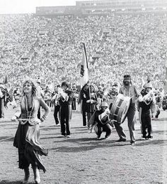 Stevie and Mick with the USC Band
