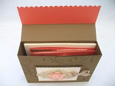 Stampin Up card box- Bella & I need to make lots of cards this summer when we have time