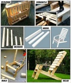 chaise longue made of pallets