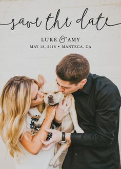 """""""Pretty Love"""" - Full-Bleed Photo, Modern Save The Date Cards in Onyx by Christine Taylor."""