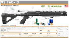 Remington Arms Company, LLC - V3 TAC-13 Military Weapons, Weapons Guns, Guns And Ammo, Tactical Shotgun, Tactical Gear, Big Guns, Cool Guns, Firearms, Punisher