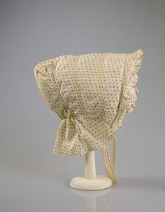 Sunbonnet    Date:      1866–67  Culture:      American  Medium:      Cotton  Credit Line:      Brooklyn Museum Costume Collection at The Metropolitan Museum of Art, Gift of the Brooklyn Museum, 2009; Gift of the Jason and Peggy Westerfield Collection, 1969  Accession Number:      2009.300.5668