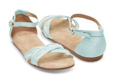 Light Blue Lace Women's Correa Sandals   TOMS @tayjo you need these!!