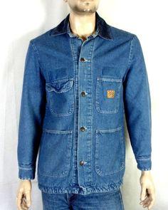 ff3f7d0417d vtg 80s Big Ben by Wrangler Men s Blanket Lined Chore Coat Denim Work Jacket  38 Work