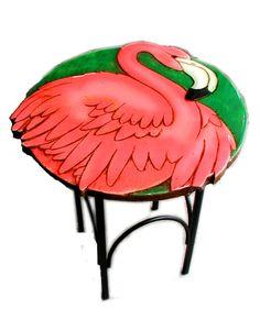 Flamingo Home Decor Accent Table