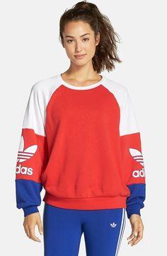 adidas Originals 'LA Crew' Colorblock Sweatshirt available at #Nordstrom