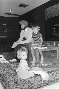 Maurice, Adam and Samantha Gibb