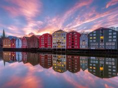 Sunset in Trondheim by Knut Aage Dahl. Stavanger, Trondheim Norway, Camping Car France, Camping 3, Bergen, Oslo, Norwegian House, Norway Travel, North Sea
