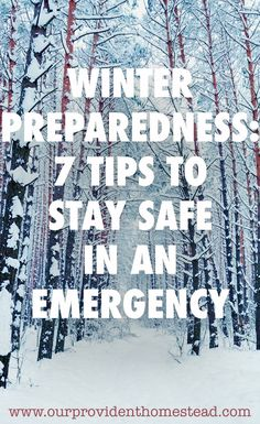 Winter Preparedness: 7 Tips to Stay Safe In An Emergency - Survival Shelter, Survival Prepping, Survival Gear, Survival Skills, Zombies Survival, Wilderness Survival, What Is Bug, Winter Hacks, Winter Tips