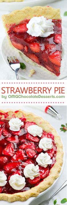Fresh Strawberry Pie is delicious and easy summer dessert. Buttery pie crust, overloaded with fresh, juicy strawberries and gooey strawberry glaze.