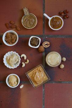Purée d'oléagineux : noisette, amande blanche, amande complète, cajou, macadamia, sésame, cacahuète, noix de Grenoble