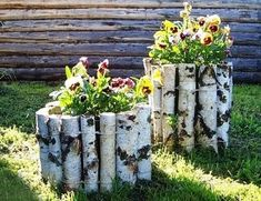 Garden flower beds diy ideas for 2019 Diy Garden Projects, Garden Crafts, Diy Garden Decor, Garden Art, Tire Garden, Diy Decoration, Amazing Gardens, Beautiful Gardens, Diy Exterior
