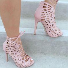 Pink Lace Ups