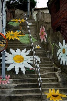 Steps in Ehwa, Korea