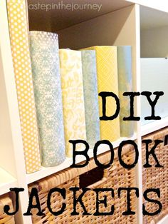 Simple diy stamped kraft paper book covers diy and freebies craft for any book diy book jackets via stepnthejourney great idea for teen who solutioingenieria Choice Image