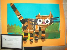 "Every year, I do an Eric Carle project with my kindergarten and base it from one of his books. This project was inspired from Eric Carle's ""Have You Seen My Cat?"""