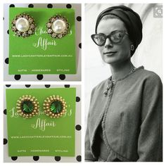 "68 aprecieri, 19 comentarii - Tina Kent (@ladychatterleysaffair) pe Instagram: ""Princess Grace knows a thing or two about statement earrings & fabulous eyewear!  LCA 'Palace…"""