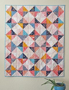 Bloggers Quilt Festival-- a new baby quilt - Spotted Stone