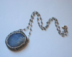 Druzy Jewelry Druzy Chalcedony Gemstone by SevimsDesign on Etsy, $159.00