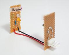 I made a train detector module with IR LED & IR Sensor. Input : 5V (from Arduino's 5V ouput pin) IR LED : EL-7L  datasheet IR Se...