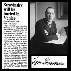 6th April 1971 - Death of Igor Stravinsky