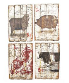 Charmant Take A Look At This Farm Animal Wall Plaque Set By Melrose On #zulily Today