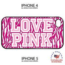 Love Pink Victoria Secret Zebra iphone 4 4s 5 hard case