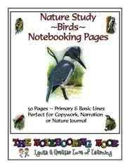 Nature Study ~ Birds ~ Notebooking Pages - Notebooking Nook.com | Science & Nature | Copywork and Basic Sets | CurrClick