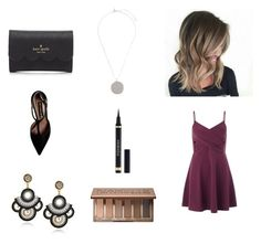 """""""Untitled #16"""" by kariannsweeney ❤ liked on Polyvore featuring Miss Selfridge, Steve Madden, Topshop, Kate Spade, Urban Decay and Yves Saint Laurent"""