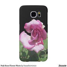 Pink Rose Flower Photo Samsung Galaxy S6 Cases