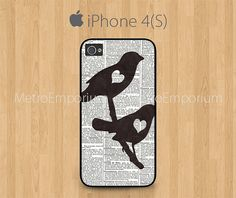Love Birds Dictionary iPhone 4 iPhone 4S Case by MetroEmporium, $15.79