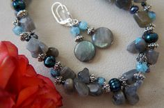 Labradorite Earrings Semi-Precious Gemstone by GemstoneArtbyEditaK