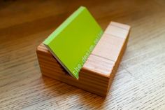 Eco Friendly Business Card Holder Made of Locally Salvaged Douglas Fir
