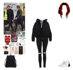 """""""Backstage with Ashton and Luke.(Niall's BF)"""" by asma-d ❤ liked on Polyvore featuring Hermès, Violeta by Mango, Topshop, adidas Originals, Acne Studios, Christian Louboutin, Givenchy, Cartier, Nails Inc. and Fendi"""