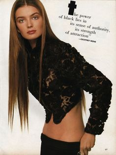 "paulina porizkova vogue 1987 ""I have now spent over a year trying to figure where in the workplace I belong."""