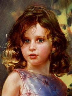 Robert Schoeller Painting: Little Girl Portrait Little Girl Portrait 159 Face