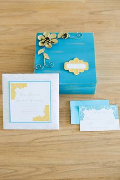 Boxed Wedding Invitations - by GourmetInvitations.com -- See more wedding inspiration on http://www.StyleMePretty.com/2014/01/28/bohemian-garden-wedding-inspiration/ Photography: Twah Dougherty  - StyleartLife.com #smp