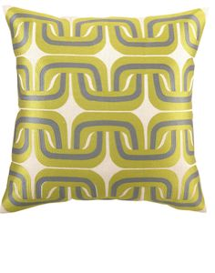 Trina Turk Geo Links Citron/Grey Embroidered Pillow I LOVE these two colors together! Her pillows are so great … really fair price point. Grey Pillows, Accent Pillows, Throw Pillows, Kids Furniture, Luxury Furniture, Diy Pillow Covers, Designer Pillow, Trina Turk, Modern Decor