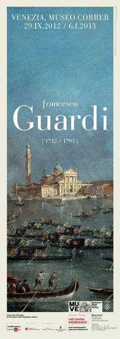 Not to be missed! #francescoguardi #exhibition at #museocorrer in #venice from #29September