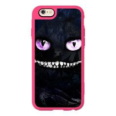 iPhone 7 Plus/7/6 Plus/6/5/5s/5c Case - Cheshire cat ($40) ❤ liked on Polyvore featuring accessories, tech accessories, new standard iphone case, iphone hard case, apple iphone case, cat iphone case, iphone cover case and iphone cases