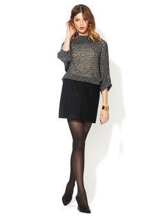 wool mini, chunky sweater