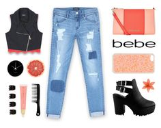 """All Laced Up for Spring with bebe: Contest Entry"" by alexis-belaruano ❤ liked on Polyvore featuring Bebe, Armani Jeans, Forever 21, Forever New, Georg Jensen and alllacedup"