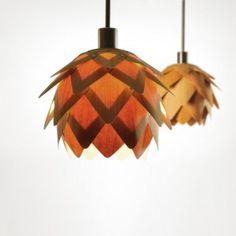 REHFORM wood lamp made of beech veneer