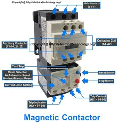 Rated characteristics of Electrical Contactors Electric Magnetic Contactor Thermal Overload relay