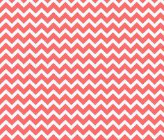 Strawberry cheesecake?   Coral Chevron fabric by sweetzoeshop on Spoonflower - custom fabric