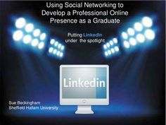 Developing a professional online presence as a graduate