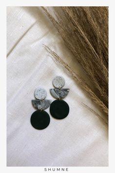 Handmade Polymer Clay Stud Earrings / Green, Marble, Granite Green Marble, Handmade Polymer Clay, Woman Fashion, Soft Fabrics, Earrings Handmade, Granite, New Baby Products, Handmade Items, Fashion Jewelry
