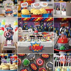 Avengers party / Party design and banqueting by @bellasbakery - Monza. Complete photo gallery on our Facebook page #bellasbakery #monza #cakedesign #cakedesignmonza #cakedesignmilano #cakedecorating #sugarart #isabellavergani #sugarartist #tortedecorate #pasticceriacreativa #partyideas #partydesign #partyinspiration #kidsparty #festeatema #avengersparty #sweettable #festainfantil #partyplanner #partyplanning #partyplannermilano #instacool #instafood